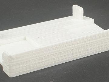 Abdeckung Kömmerling Doppel-Rollladenlaufschiene Weiß