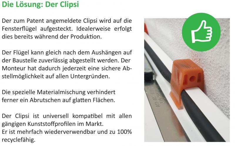 Clipsi - Der Fensterflügelschutz: Monteurset